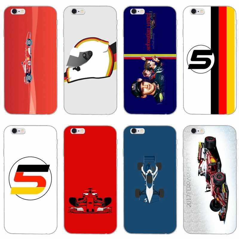 Sebastian Vettel 5 slim silicone Soft phone case For Xiaomi Mi 6 6X A1 5 5s 5x mix max 2 Redmi Note 4 5 5A pro plus