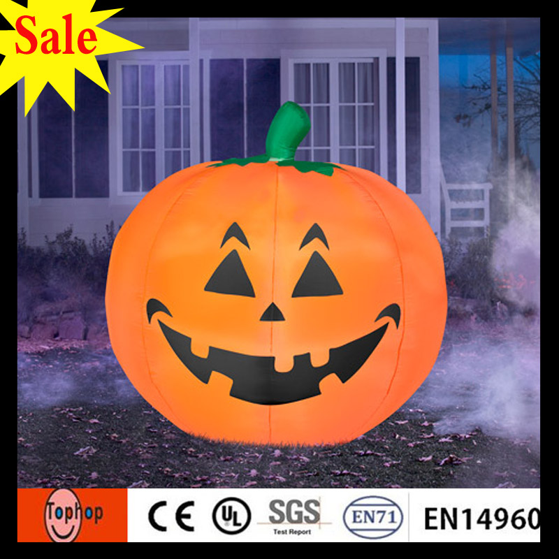 2017 hot sales diameter 35m outdoor decorating large foam design lighted halloween pumpkins 420d oxford - Halloween Sales