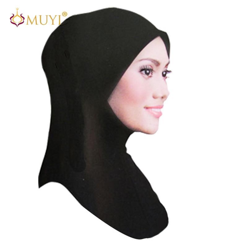 Muslim Hijab Islamic Jersey Turban Hijabs Femmes Women Black Ninja Underscarf Caps Instant Head Scarf Full Cover Inner Coverings