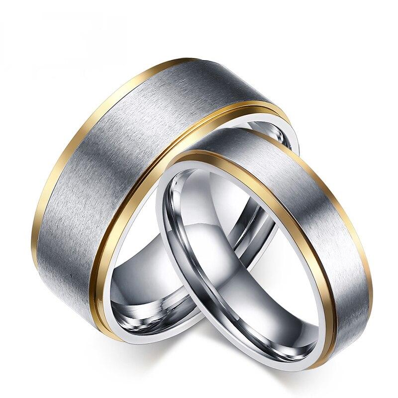 Elegant Rings Women Men 6mm 8mm Wedding Bands Ring Cheap Promotion