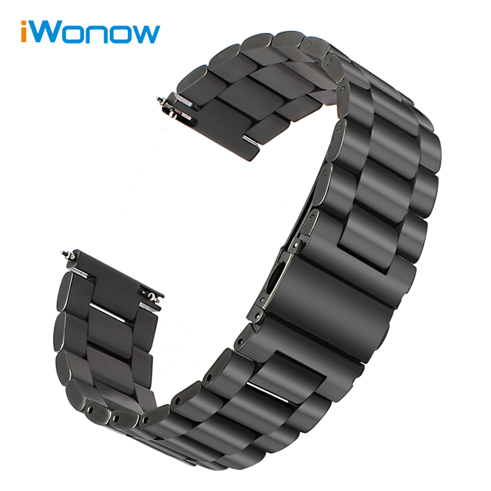 Quick Release Stainless Steel Watchband 22mm for Samsung Gear S3 Classic Frontier / Gear 2 Neo Live Wrist Strap Wristband Black france genuine leather watchband for samsung gear s3 classic frontier r760 770 double color watch band quick release wrist strap