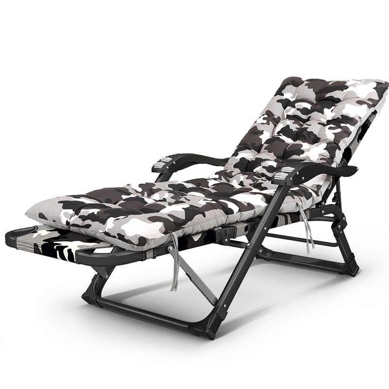 Складывающееся откидное кресло для отдыха на открытом воздухе, кемпинг, кровать, шезлонг, стул для сада, Пляжное Кресло для сидения/лежа, рыбалка, шезлонг, хлопковая подушка