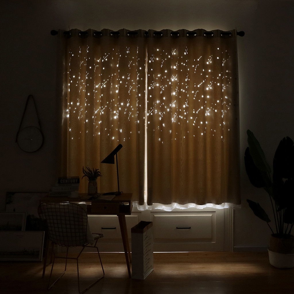 1pc 200 100cm meteor shower curtain for kids bedroom semi - Childrens bedroom blackout curtains ...
