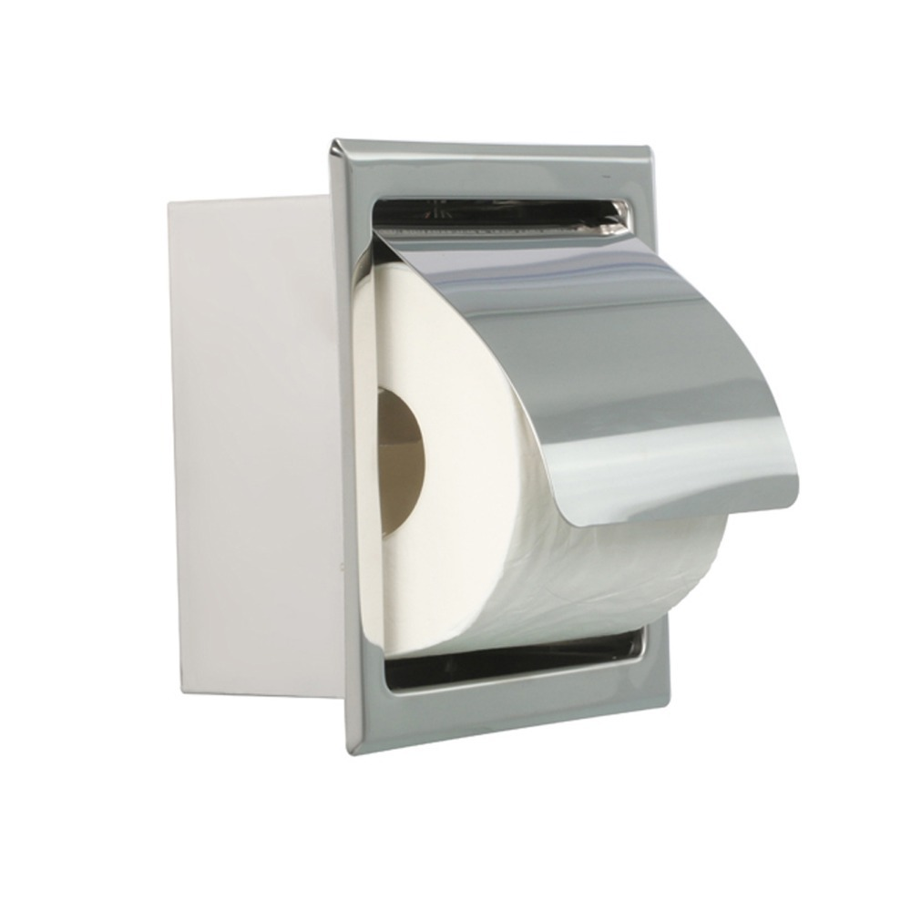 Bathroom Accessory Stainless Steel Square Wall Mounted ... on Wall Mounted Tissue Box Holder id=43199