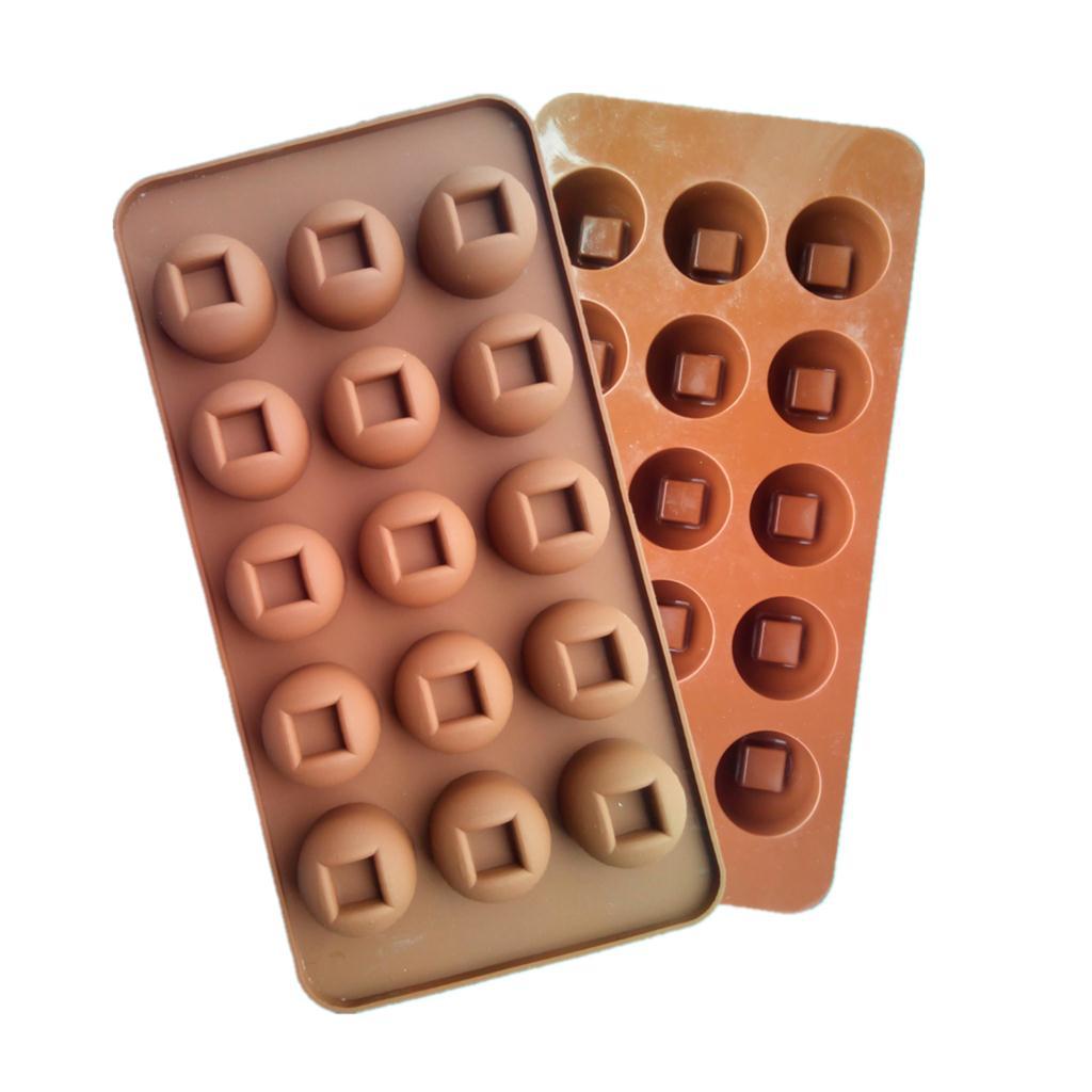 ce09f1bf5 العلامة التجارية الجديدة جولة الصينية حفرة على شكل الشوكولاته العفن كعكة  أدوات قالب الحلوي سيليكون خبز كب كيك كعكة توبر D525