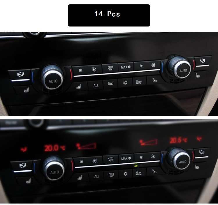 Chrome ABS Condizionatore D'aria Bottoni Paillettes Copertura Decorazione Assetto Per BMW F10 F11 F06 F01 E70 E71 F25 F26 di Ricambio tipo