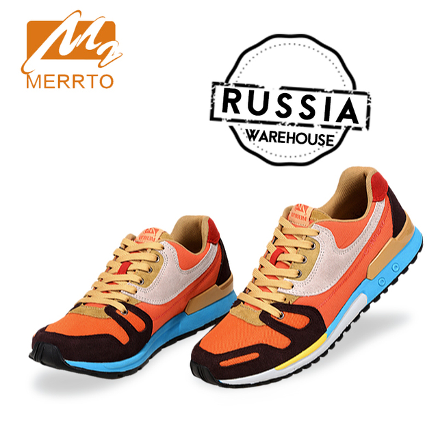 MERRTO brand running shoes men women sport shoes Light Weight Mesh Breathable Comfortable Sneakers Ship from Russia