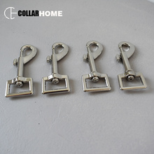 50pcs dog clip hook swivel lobster clasp buckle 20mm hardware plated snap pet leash straps accessories