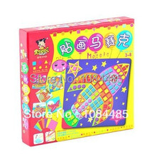 Transportation tools Kids New EVA Sticky Mosaics Classic IQ Sticky educational toy for children