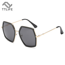 TTLIFE 2019 New Oversized Square Sunglasses Women Luxury Brand Designer Vintage Sunglass Fashion Big Frame Sun Glasses YJHH0171