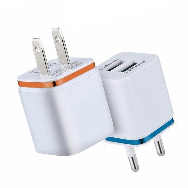 2.1A double USB Phnom Penh placage chargeur de téléphone portable pour iPhone pour Android Samsung Xiaomi Huawei chargeur intelligent US EU Plug