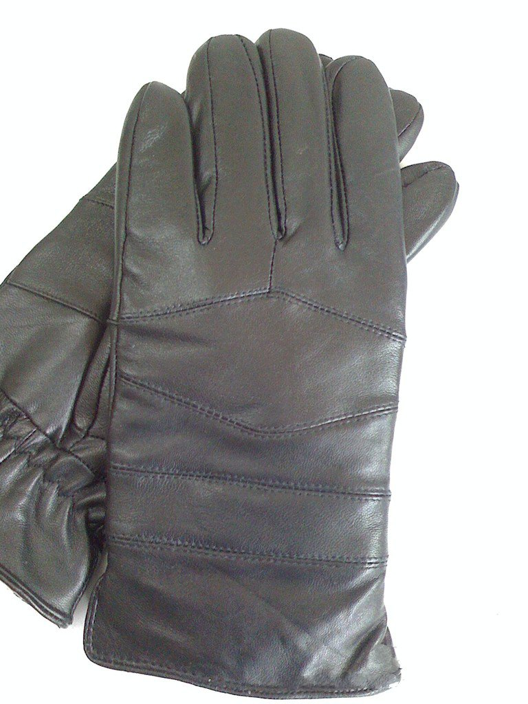 ФОТО Sheep lamb in men's motorcycle gloves thickened Aries