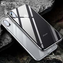 Cafele TPU Phone Case for iPhone Xs XR MAX 7 Plus 5 5S SE Crystal Clear Cover