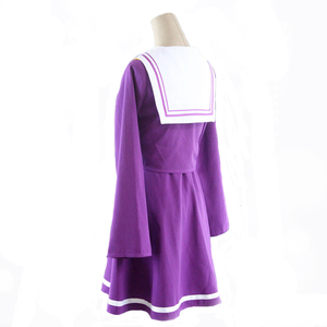 Image 3 - Anime Game No game no life cosplay Shiro costume Halloween women clothes carival dress wigs sailor suit Japanese school Uniform
