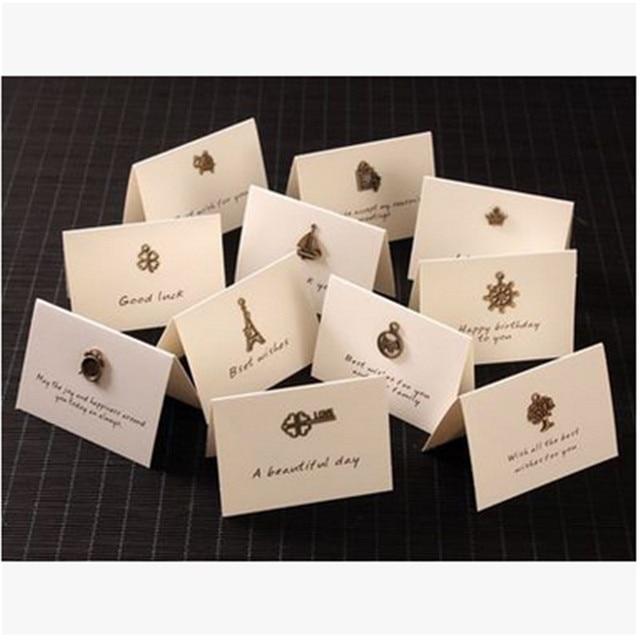 NEU! 10 teile/los Vintage Eisen Mini Karten Set DIY Begrüßung Karten ...