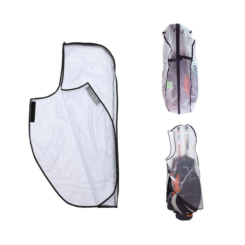 PVC Waterproof Golf Bag Hood Rain Cover Shield Outdoor Golf Pole Bag Cover Durable Dustproof Cover Golf Course Accessories