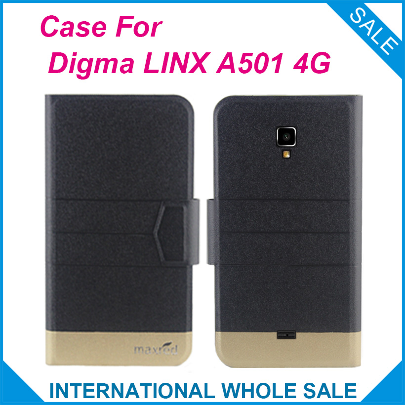 Hot! Digma <font><b>LINX</b></font> <font><b>A501</b></font> 4G Case,5 Colors New Fashion Business Magnetic clasp Ultrathin Flip Leather Exclusive Case image