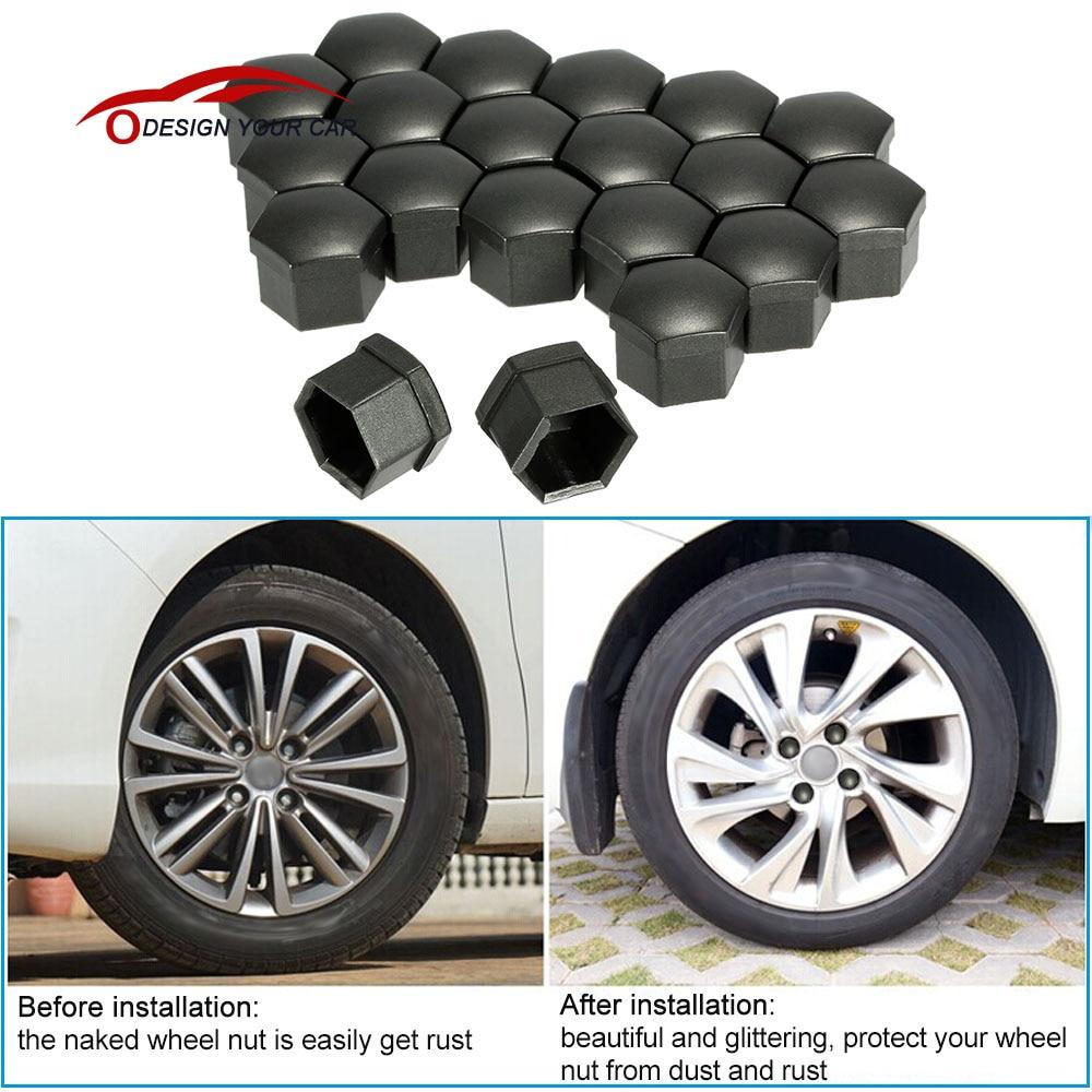 Car Style Gray Color Universal 17mm Car Wheel Chrome