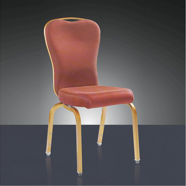 wholesale quality strong action backrest aluminum hotel chair LQ-L9063 gold aluminum hotel chair