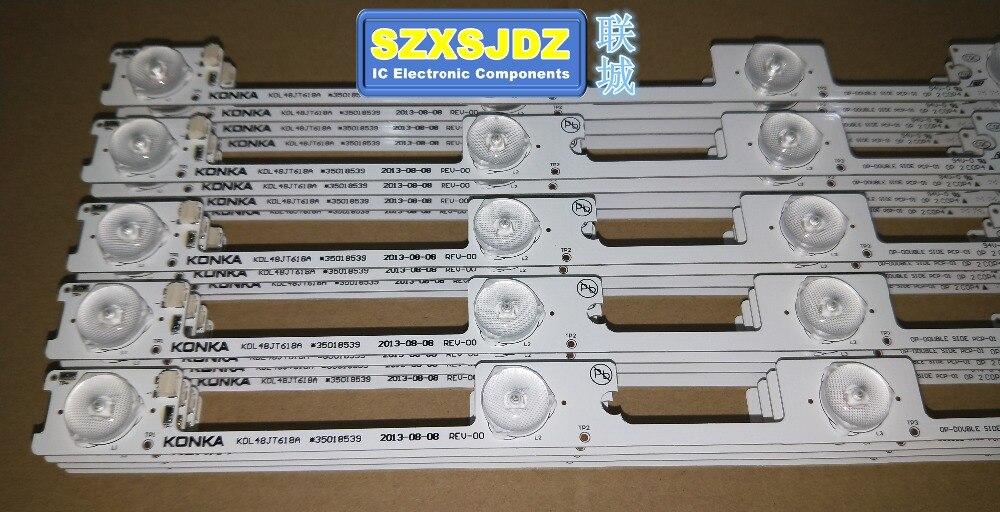 Original New 160pcs LED Strip Bar Backlight for KONKA KDL48JT618A KDL48SS618U 35018539 35018540 6LED LIGHT 6v