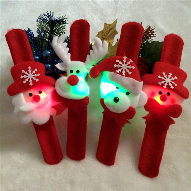5Pcs/Set Santa Claus Wrist Hand Wrist Strap Hanging Toys Christmas Decorations Supplies Reindeer Snowman Ornament Xmas Gift DS9