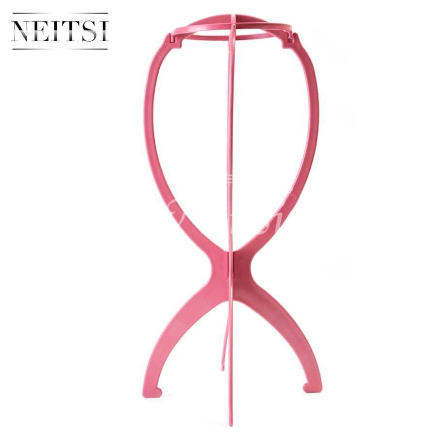 Neitsi Pruik Hoofd Stand Haar Accessoires/Tools Mannequin Hoofd Stand Pruik Houder Roze Kleur 6 stks/partij