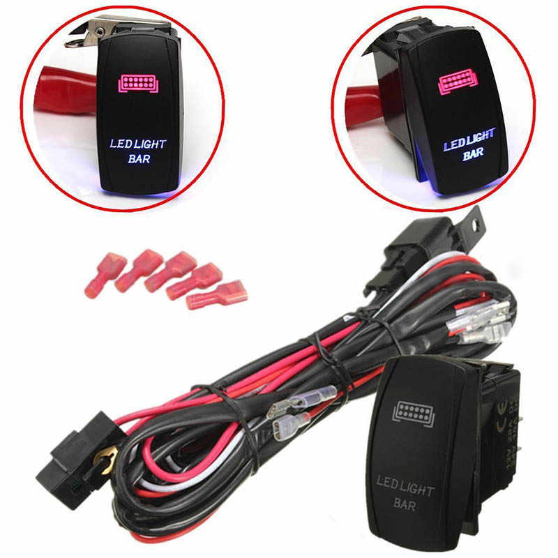 Detail Feedback Questions about 12V Car Blue Red LED Light Bar ON