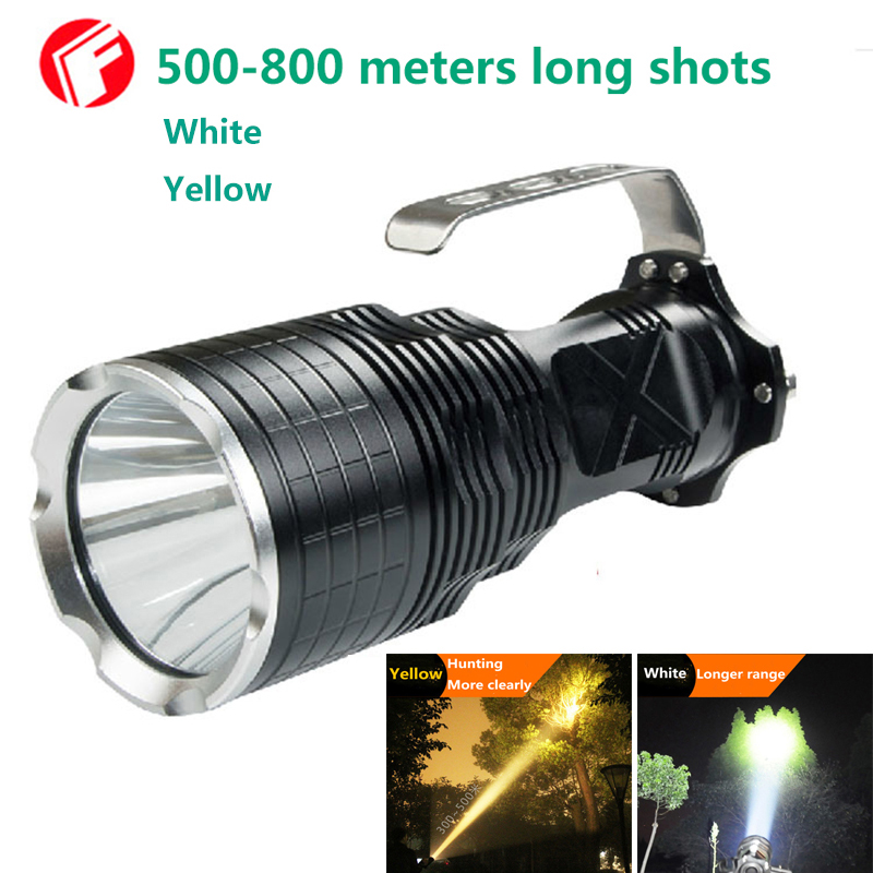 LED Flashlight CREE XM-L2 light White Yellow 2 color options Outdoors Hunting Explore camping Search and Rescue lights
