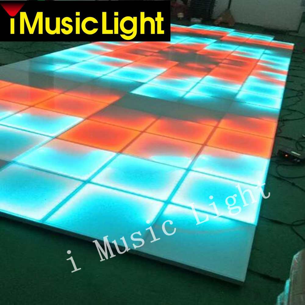 16Pcs/Lot DMX controller,5050 RGB 3in1 led effect dance floor,dance club stage,led dance floor for sale
