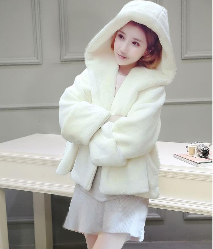2017 new imitation hawk fur fur coat female short section Korean version was thin winter fur