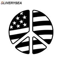 Знак Мира Символ американский флаг Светоотражающая виниловая наклейка стикер автомобиль грузовик внедорожник окна бампер наклейки автомобильные аксессуары