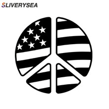 Peace Sign Symbol American Flag   Reflective Vinyl Decal Sticker Car Truck Suv Window Bumper Stickers Car Accessories