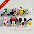 100pcs  Mickey  HYB010-1 PVC shoe charms fit for wristbands,  best gift for kids,cute cartoon,Kids favor gift