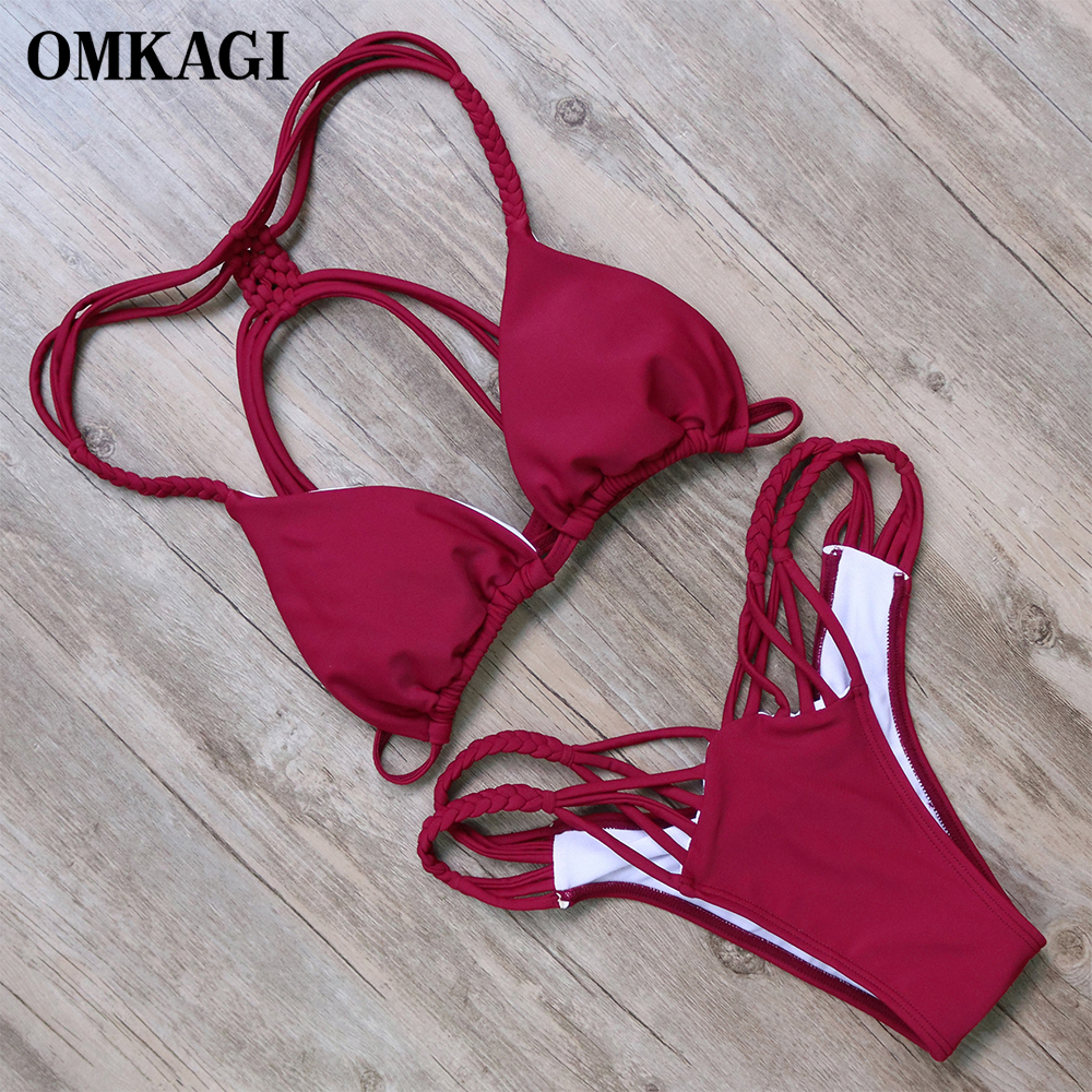 OMKAGI Sexy Bikini Swimwear Swimsuit Women Bathing Suit Push Up Bikinis Set Biquini 2017 Maillot De Bain Femme Beach Swim Wear   1