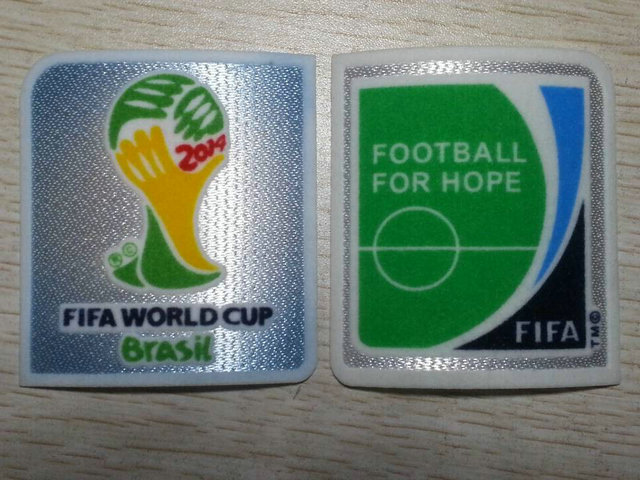 free shipping +2014 Brazil world cup patch + football for hope patch soccer  patch soccer Badges edd77a9b4