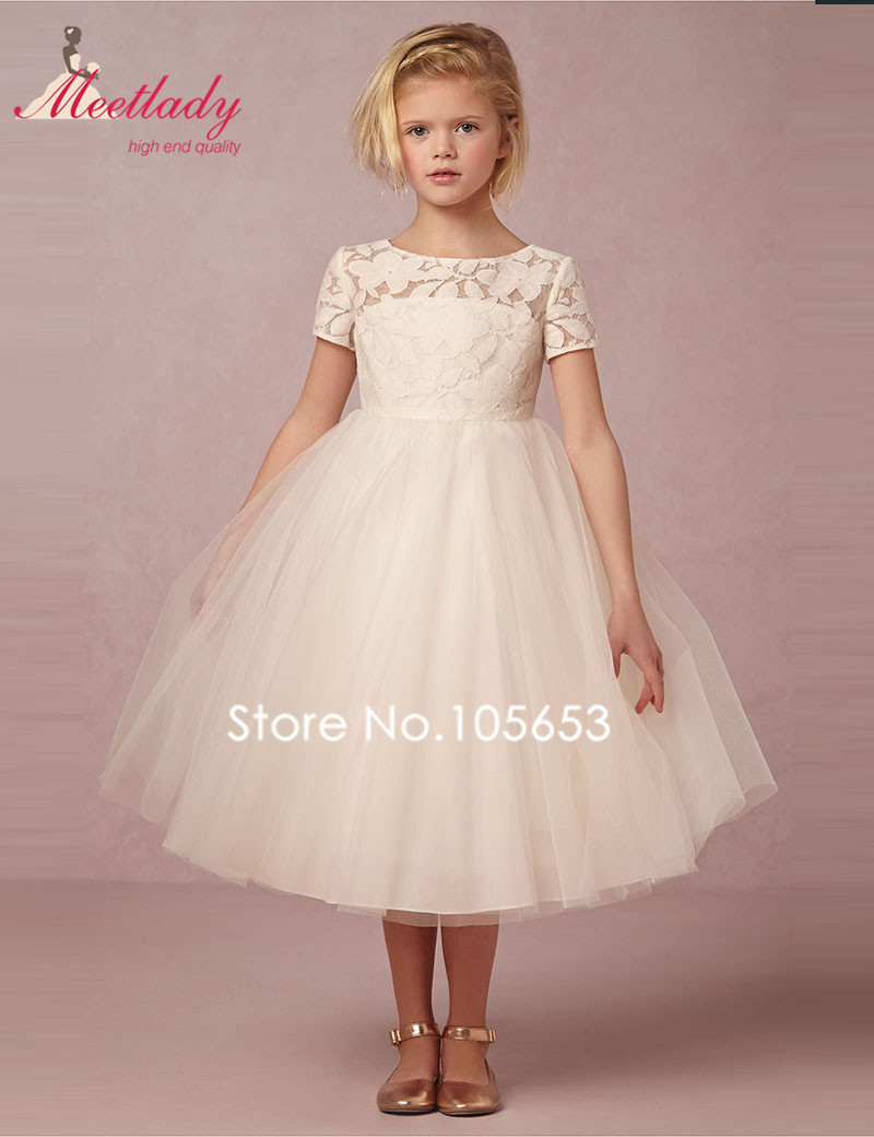Aliexpress Buy White Pink First Communion Dresses For Girls