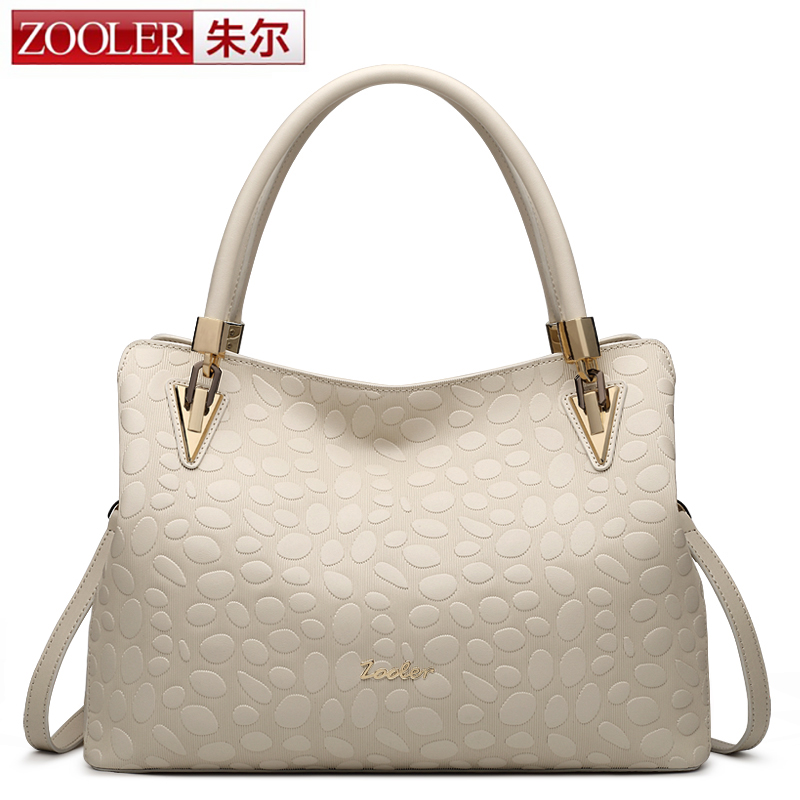 ZOOLER winter new real leather bags handbags women famous brands classic women leather shoulder bag simply