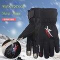 Inverno Luvas Da Motocicleta De Corrida de Couro À Prova de Vento Quente à prova d' água Ciclismo Bicicleta Luvas Luvas Luvas de Protecção Fria