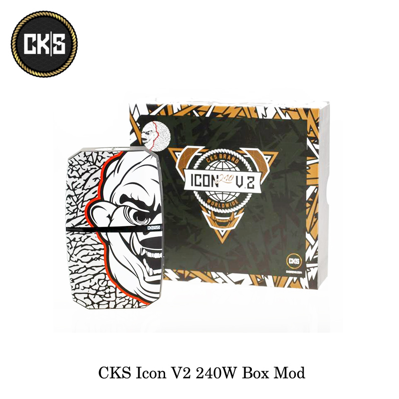 electronic cigarettes CKS Icon V2 240W Box Mod Powered By Dual 18650 Battery VO CHIPSET Temp