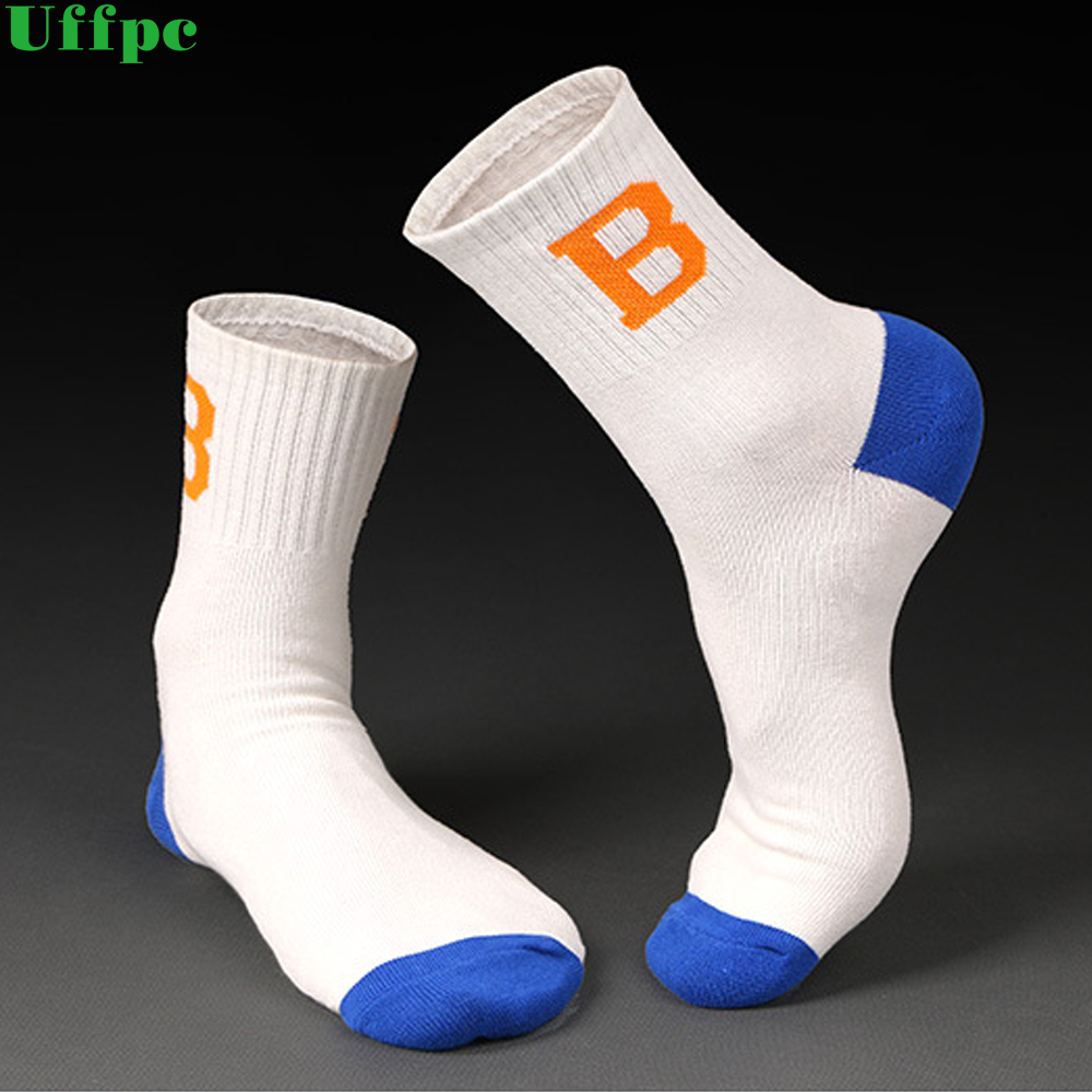 5 Pair Cotton man socks compression breathable socks boy Contrast Color Standard meias Good Quality sheer work letter socks