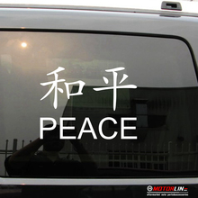 chinese symbol peace kanji decal sticker car vinyl pick size color no bkgrd