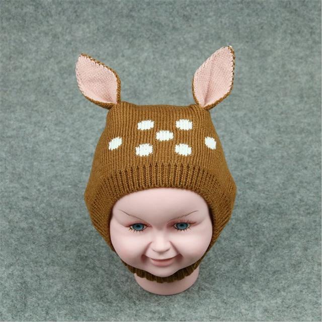 Nuovo Bella Cappelli di Inverno Del Bambino Maglia Per Bambini Berretti  Berretti Caldo Del Bambino Con 6688c56e7674
