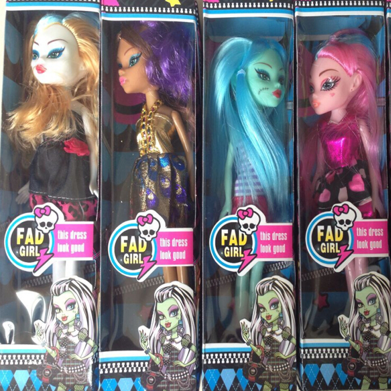 4 Boxes Lot Monster Toys Dolls High Quality Toy Gift For Girls