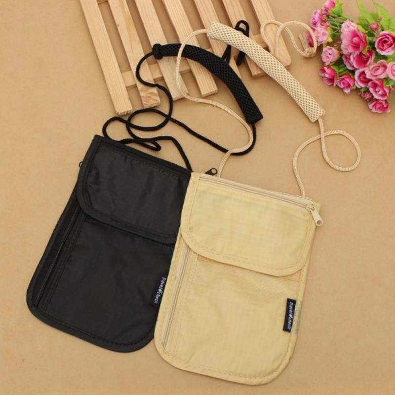 Small Security Pockets Under Clothes Neck Wallet Money Document Card Passport Pouch Holder