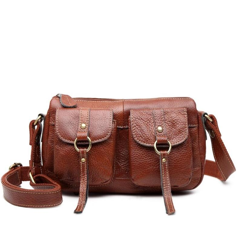 With Good Gifts!Genuine Leather Female Tote Cowhide Shoulder Bags Women Messenger Bags Handbag Women Famous Brand Ladies Bolsas 100% genuine leather women bags famous brand women messenger bags first layer cowhide shoulder bags women ladies handbags
