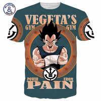 Clásico Dragon Ball Z Super Saiyan 3D camiseta divertida Vegeta quería Camisetas mujeres hombres verano Casual tee camisas