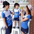 2017 verano madre hijo niños trajes de algodón mirada de la familia del padre-niño de manga corta t-shirt para niños clothing