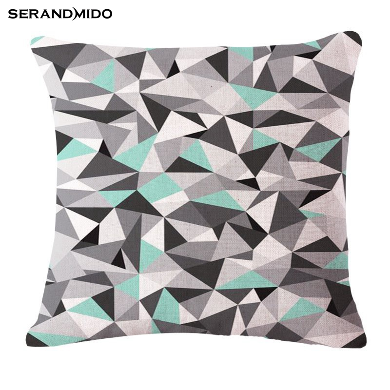 Bling Rhinestone Cushion Cover Printed Decorative Pillow Cases Cotton Linen Housse De Coussin Square 18*18 inches Throw Pillows