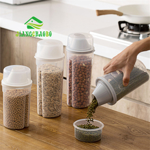 5055d60cafe0 JiangChaoBo Multi-grain Sealed Cans Kitchen Food Storage Tank Plastic Dried  Fruit Storage Cans Snack