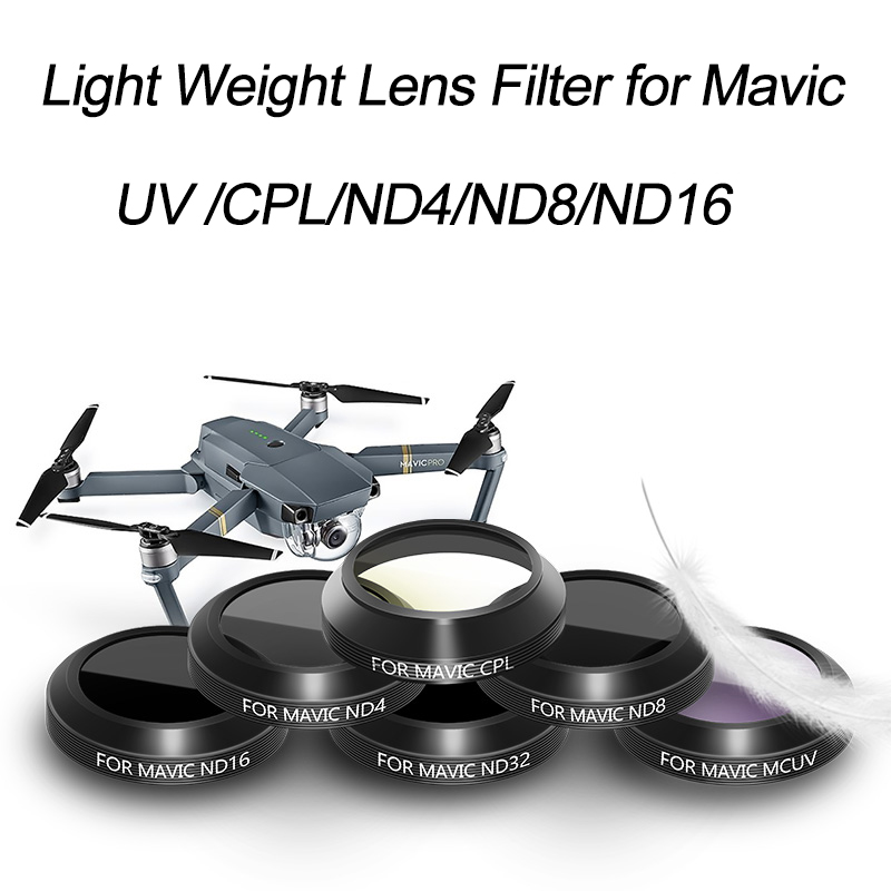UV ND4 ND8 ND16 ND32 Lens Filter for DJI Mavic Pro Platinum Drone Accessories,Multi Layer Coating Filter,Light weight Filter